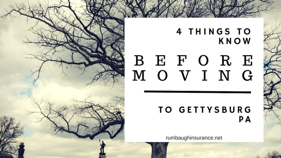 things to know before moving to gettysburg pa